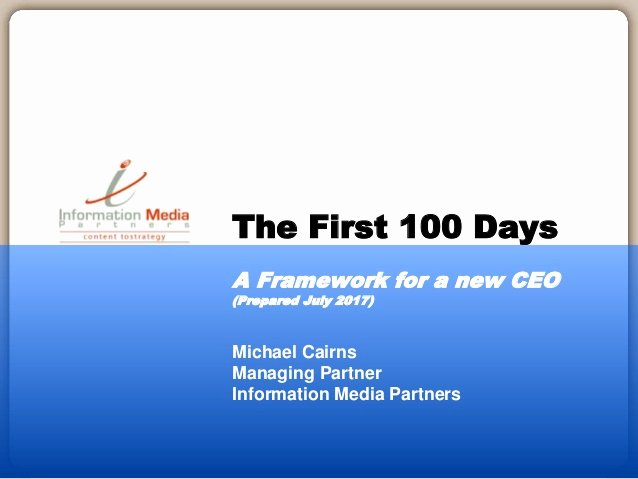 100 Day Plan Template Excel Awesome the First 100 Days A Planning Framework for the Ceo