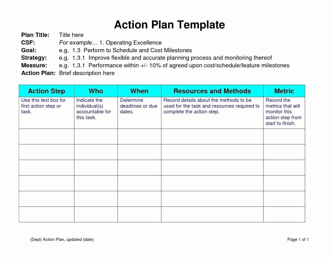 100 Day Plan Template Excel Fresh 11 100 Day Plan Sample