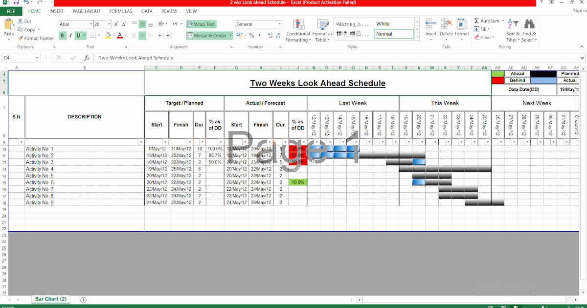 2 Week Schedule Template Awesome Download Two Week Look Ahead Schedule Template