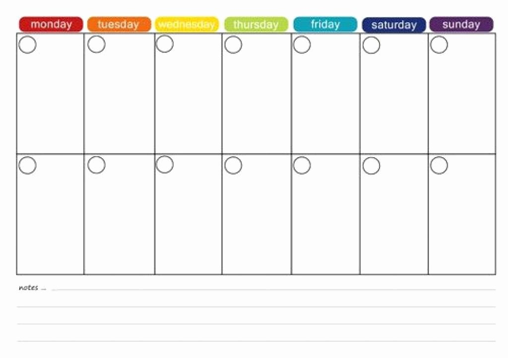 2 Week Schedule Template Beautiful Printable 2 Week Calendar Printable 2 Week Calendar Two