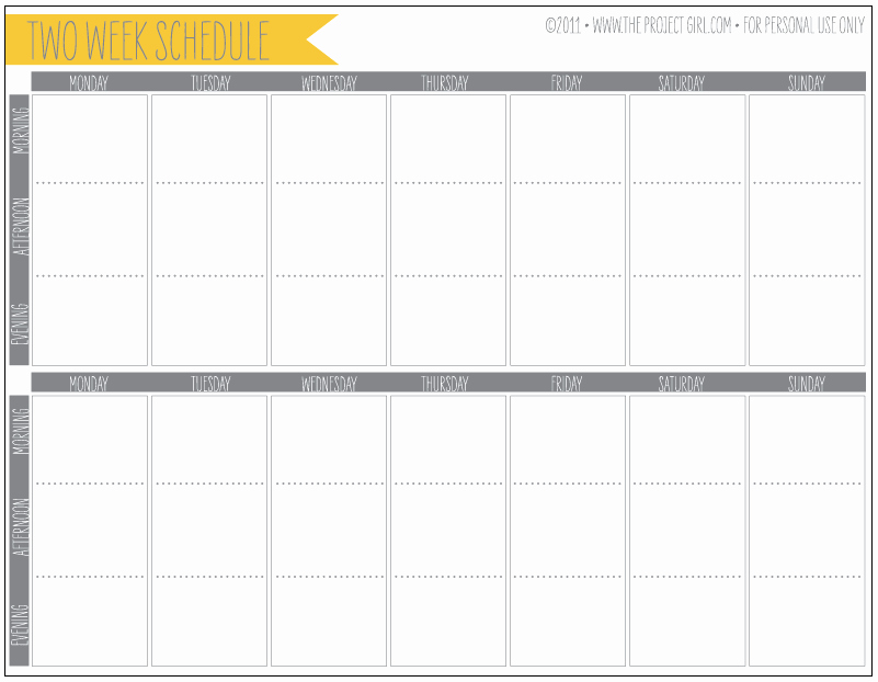 2 Week Schedule Template Fresh Free 2 Week Schedule Download