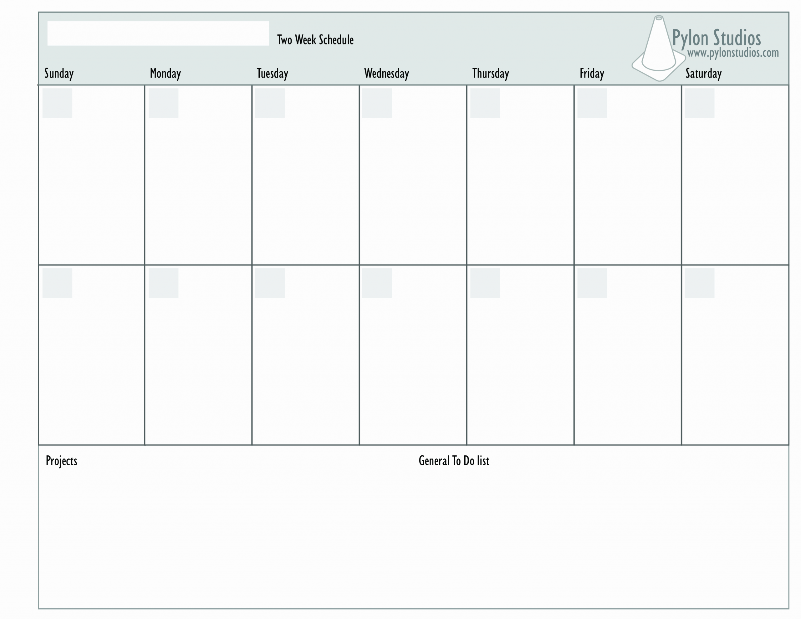 2 Week Schedule Template Inspirational 2 Week Calendar