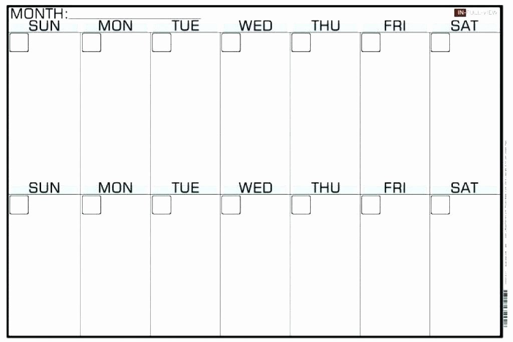 2 Week Schedule Template Unique Blank Two Week Calendar – Italfx