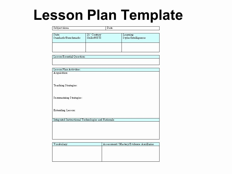 21st Century Lesson Plan Template Awesome Lesson Plan Template Technology 20th Century Vs 21st