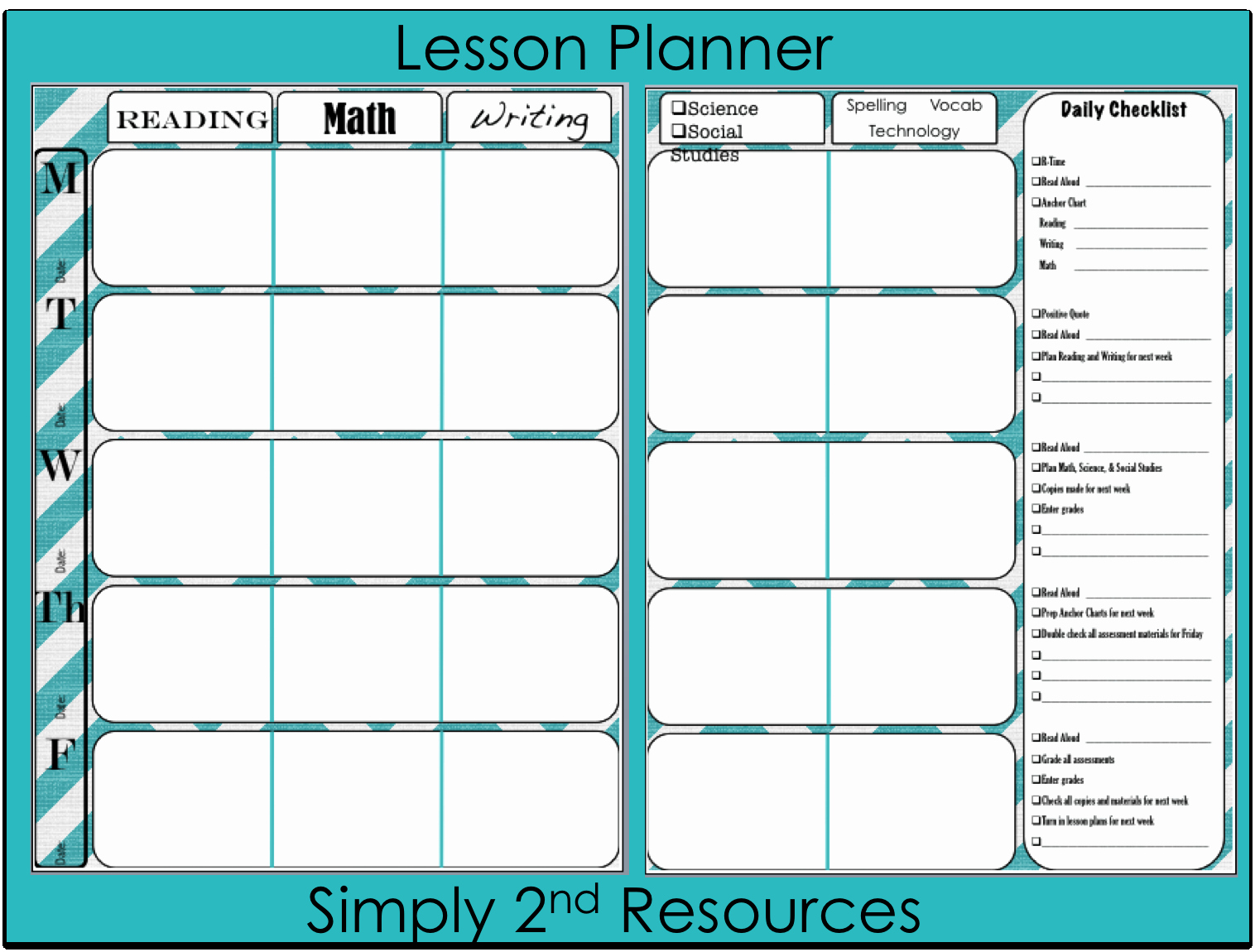 21st Century Lesson Plan Template Luxury Simply 2nd Resources Lesson Plan Template so Excited to
