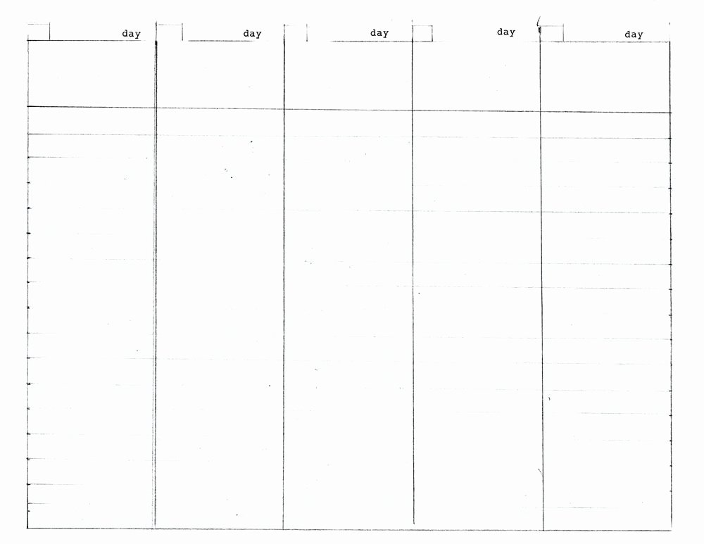 5 Day Schedule Template Best Of 5 Day Work Week Diy Planner Template