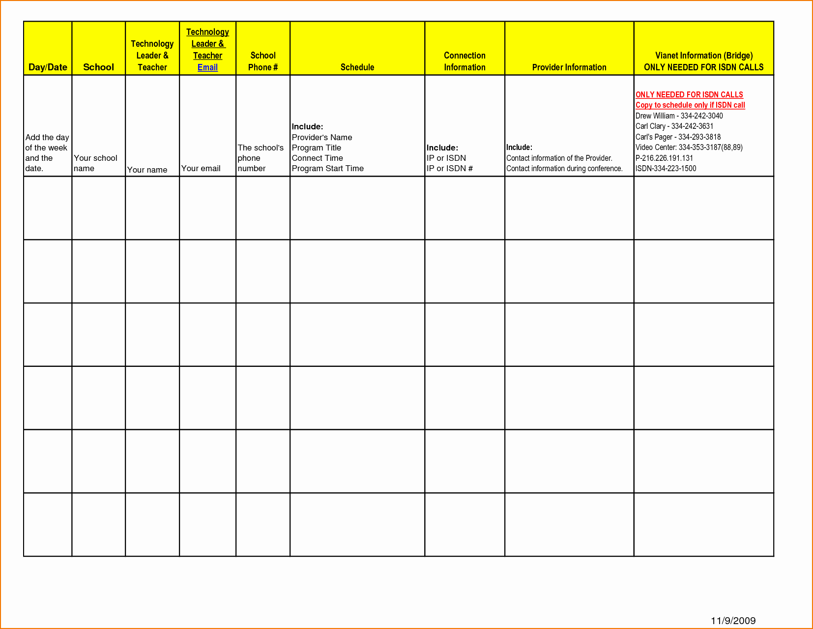 5 Day Schedule Template Fresh 5 Day Schedule Template