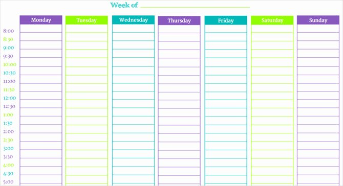 5 Day Schedule Template Fresh these Time Blocking Free Printable Planners Will Help You