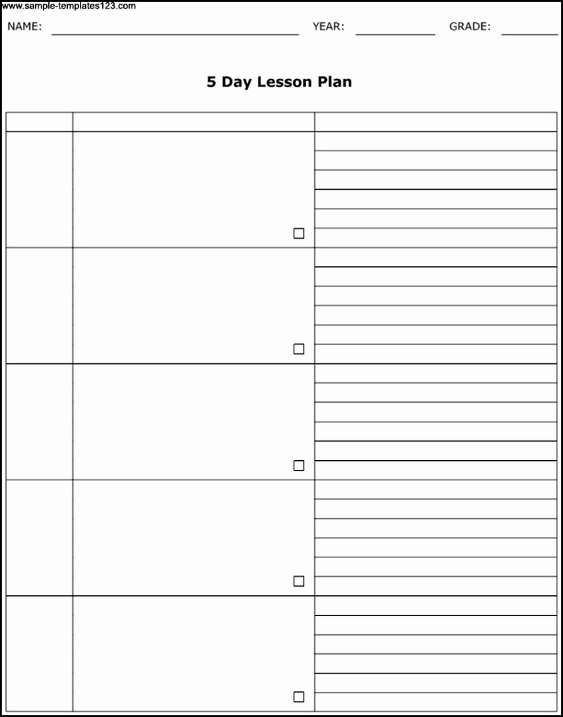 5 Day Schedule Template New 5 Day Weekly Planner Template Calendar Inspiration Design