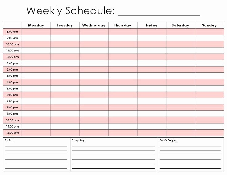 5 Day Schedule Template New the 25 Best Weekly Calendar Template Ideas On Pinterest