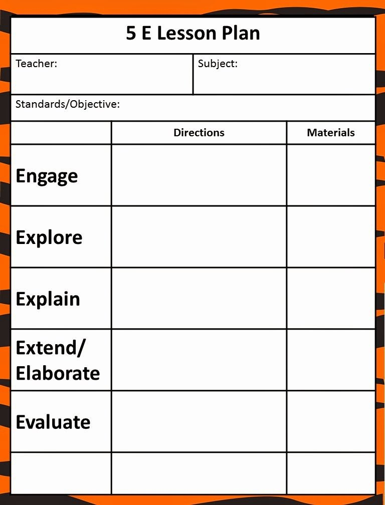 5 Step Lesson Plan Template Inspirational Queen Of the Jungle the 5e Model Our New Lesson Plans