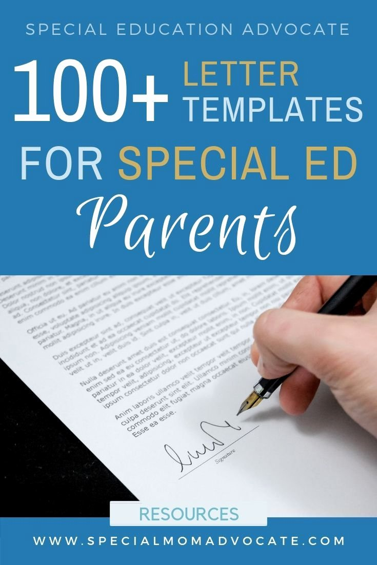 504 Plan Template Adhd Beautiful 100 Special Ed Letter Templates for Parents