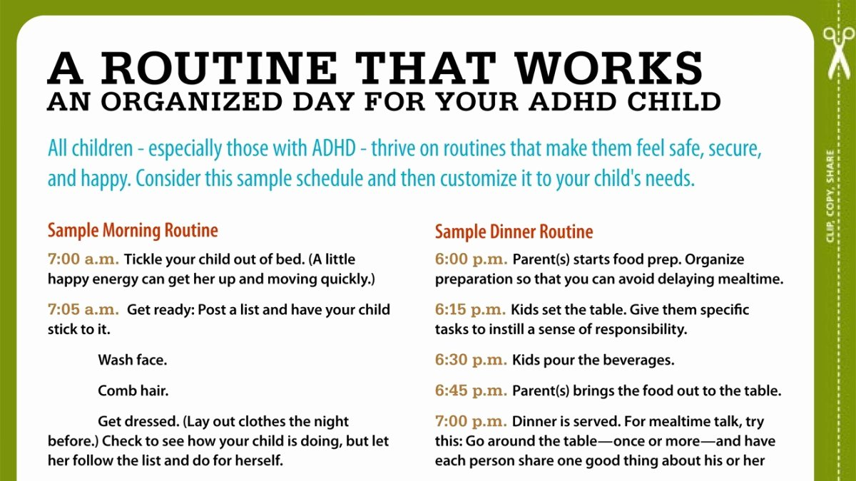 504 Plan Template Adhd Best Of Routines for Kids with Adhd Your Sample Schedule
