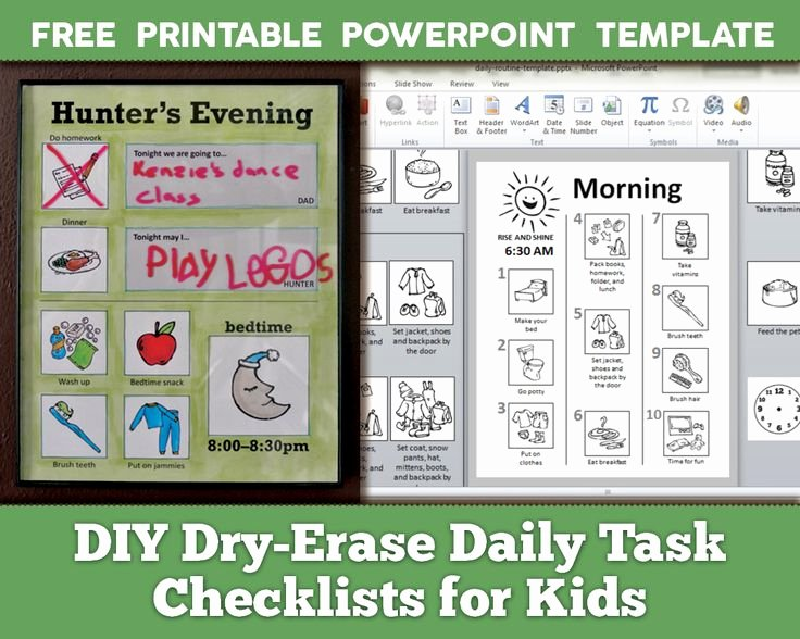 504 Plan Template Adhd Unique Diy Dry Erase Daily Routine Checklists for Kids with Free