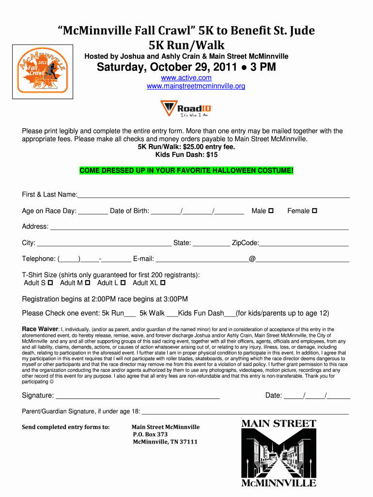 5k Race Registration form Template Inspirational Printable 5k Registration form Fill Line Printable