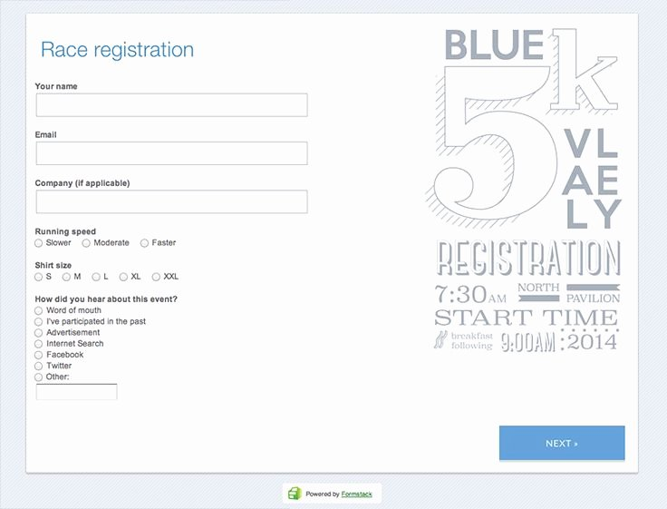 5k Race Registration form Template Lovely Make Your 5k event even Easier to Manage with Online
