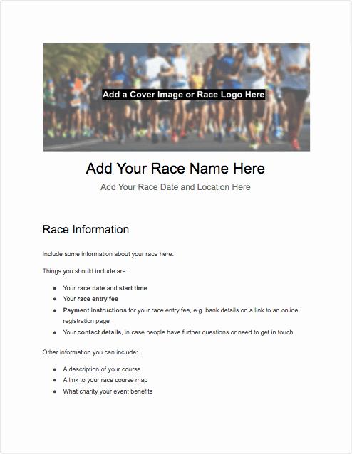 5k Race Registration form Template Luxury 5k Registration form Templates