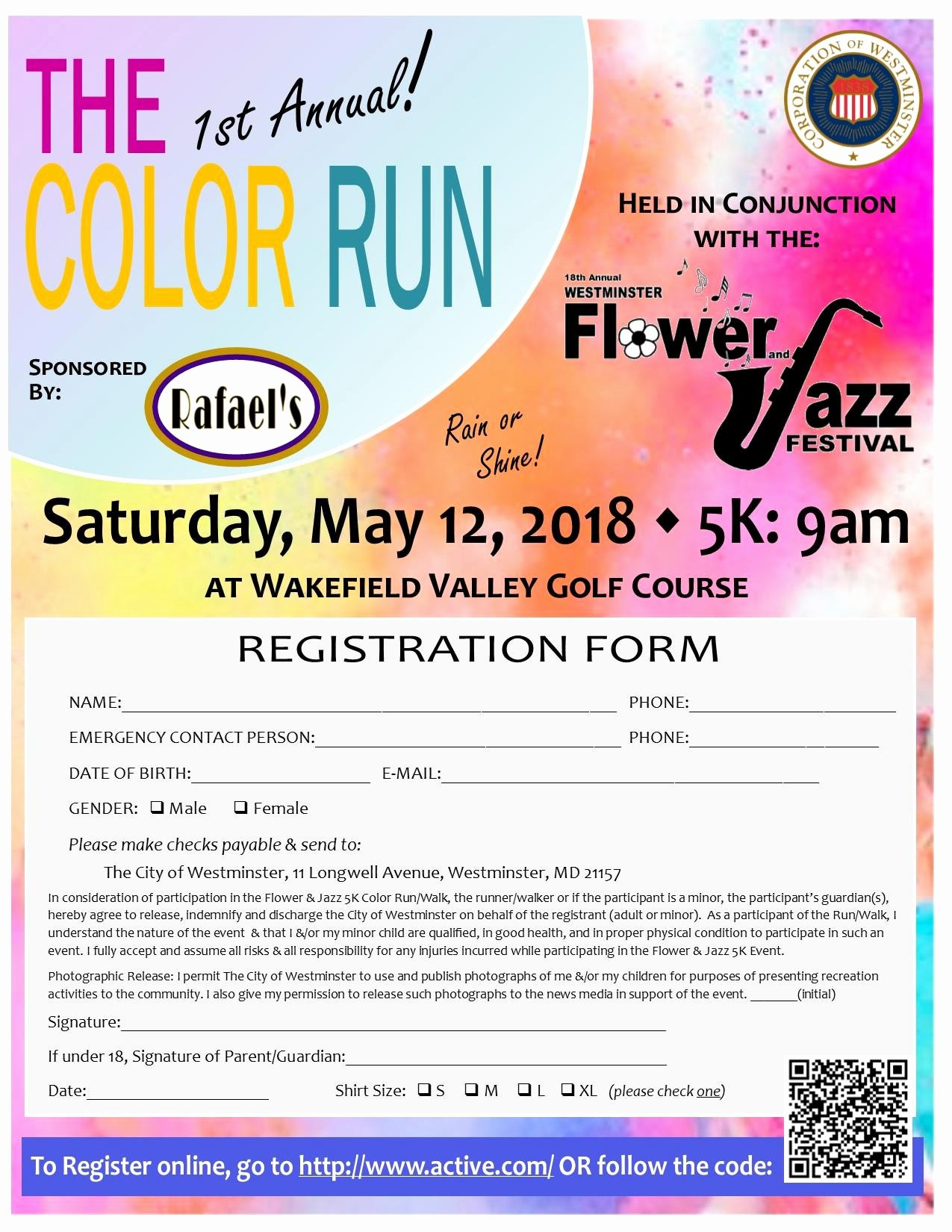 5k color run registration form