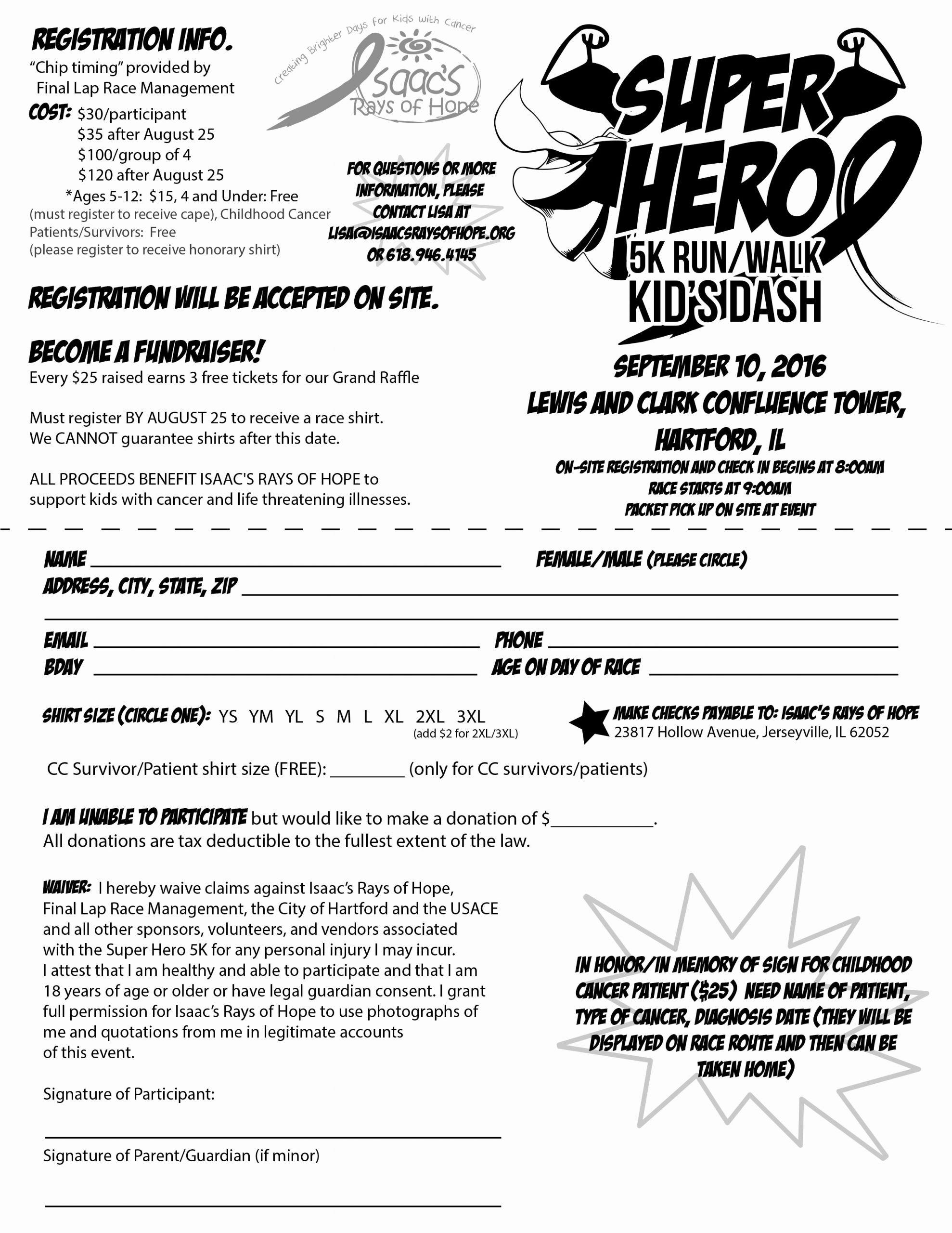 5k Registration form Template Fresh 5k Registration forms Runners Can Also Register On