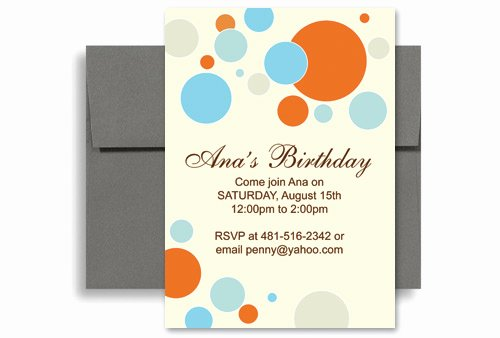 5x7 Invitation Template Word Beautiful Bright Colorful Kids Microsoft Word Birthday Invitation