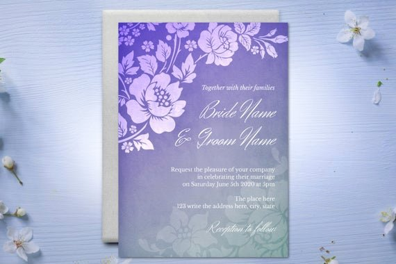 5x7 Invitation Template Word Beautiful Diy Printable 5x7 Wedding Invitation Template Roses