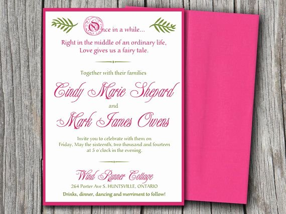 5x7 Invitation Template Word Inspirational Fairytale Wedding Invitation Microsoft Word Template