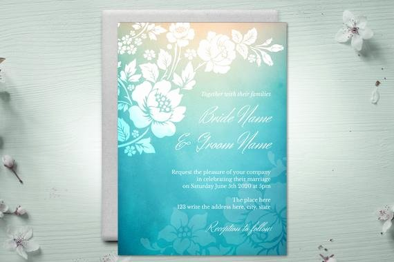 5x7 Invitation Template Word Lovely Diy Printable 5x7 Wedding Invitation Template Roses