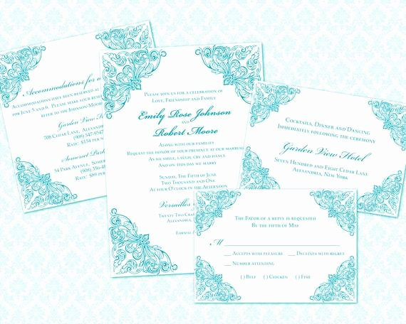 5x7 Invitation Template Word Lovely Diy Wedding Invitation Template Set 5x7 by Weddingsbyjaniev