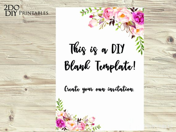 5x7 Invitation Template Word Lovely Floral Edit Yourself Invitation Ms Word 5x7 Size Document
