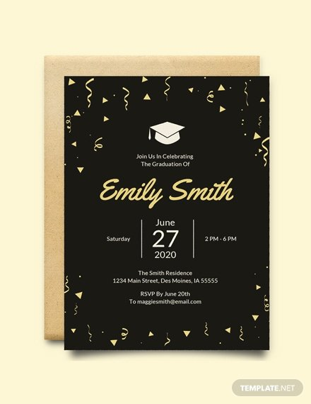5x7 Invitation Template Word Luxury Free Graduation Invitation Template Download 517