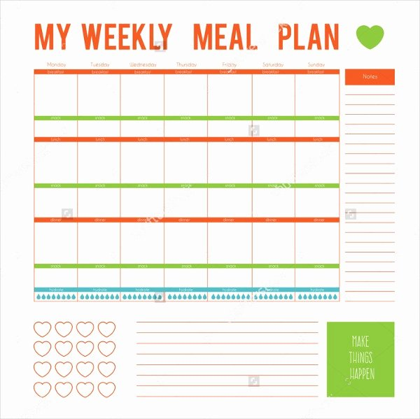 7 Day Planner Template Awesome Meal Planner Template