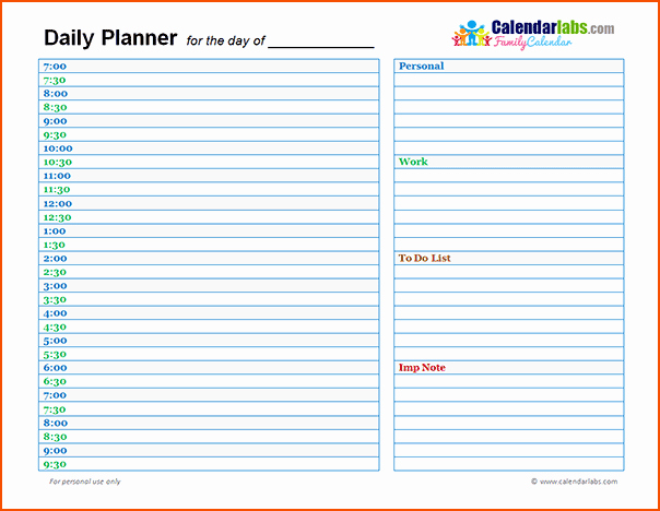 7 Day Planner Template Elegant 7 Day Planner Online Bookletemplate