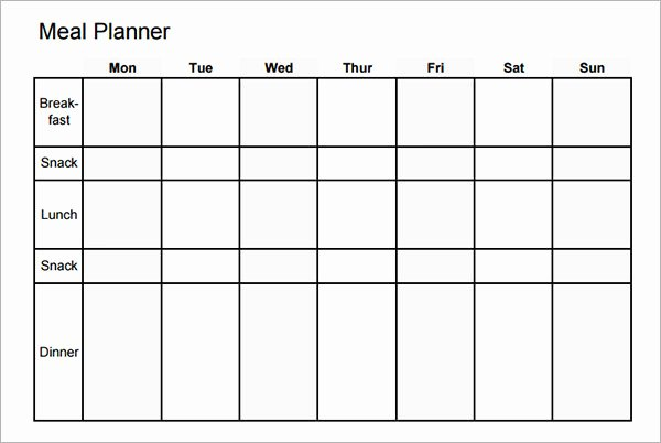 7 Day Planner Template Inspirational 7 Day Meal Planner Template