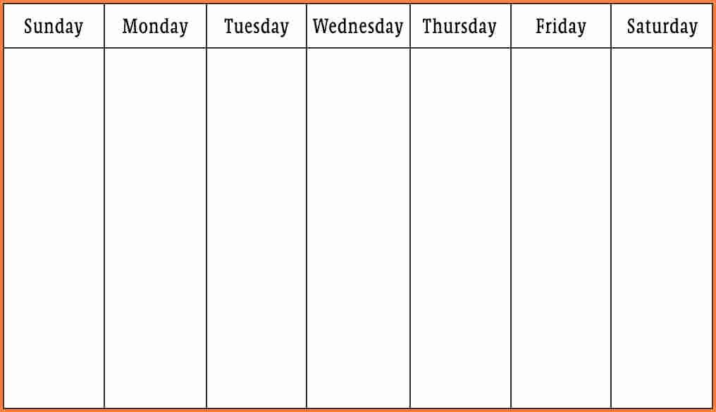7 Day Week Schedule Template Elegant Calendar by Week Template Driverlayer Search Engine