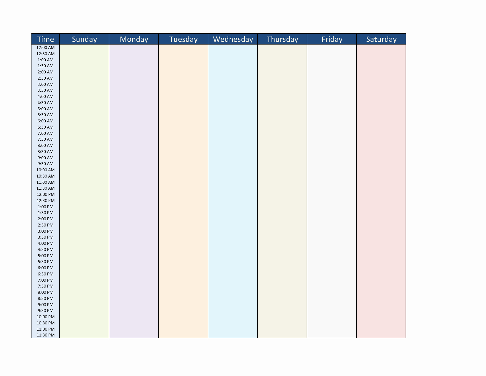 7 Day Week Schedule Template Lovely 25 Of 7 Day Week Calendar Template