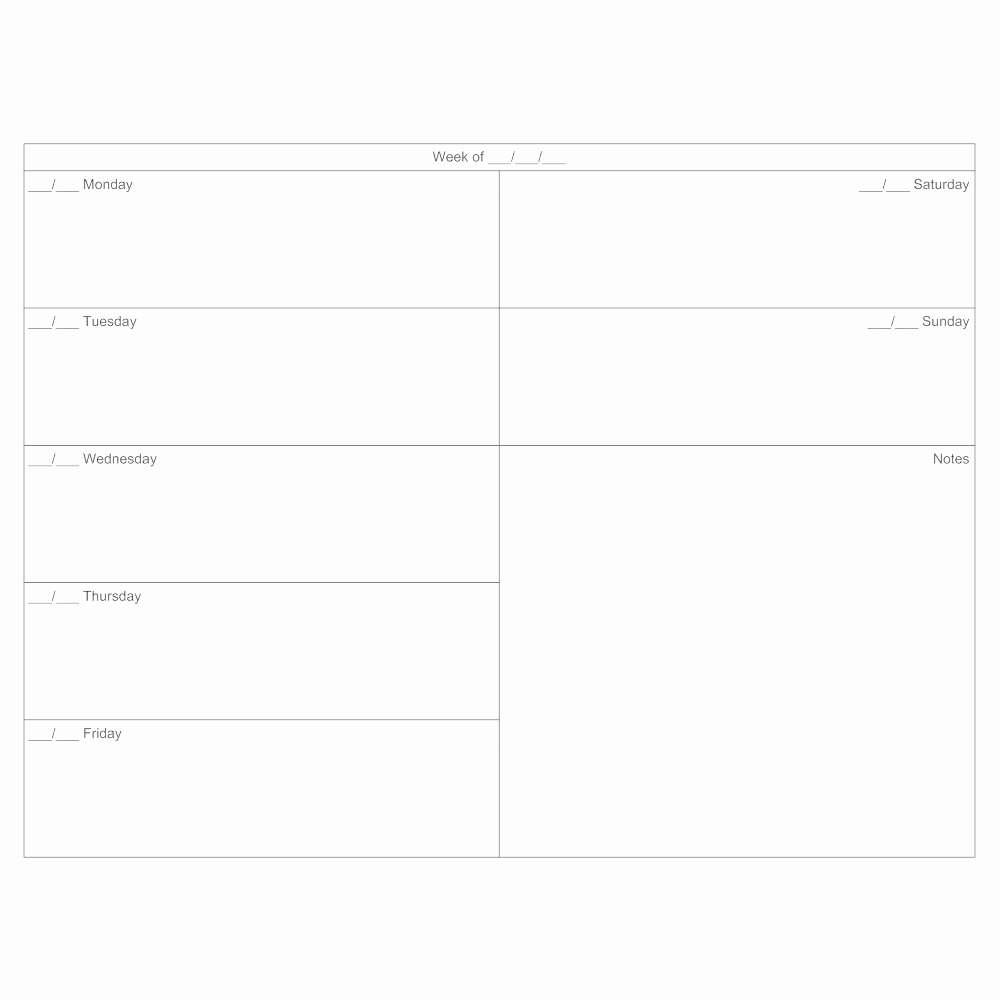 7 Day Week Schedule Template Luxury 7 Day Calendar Template