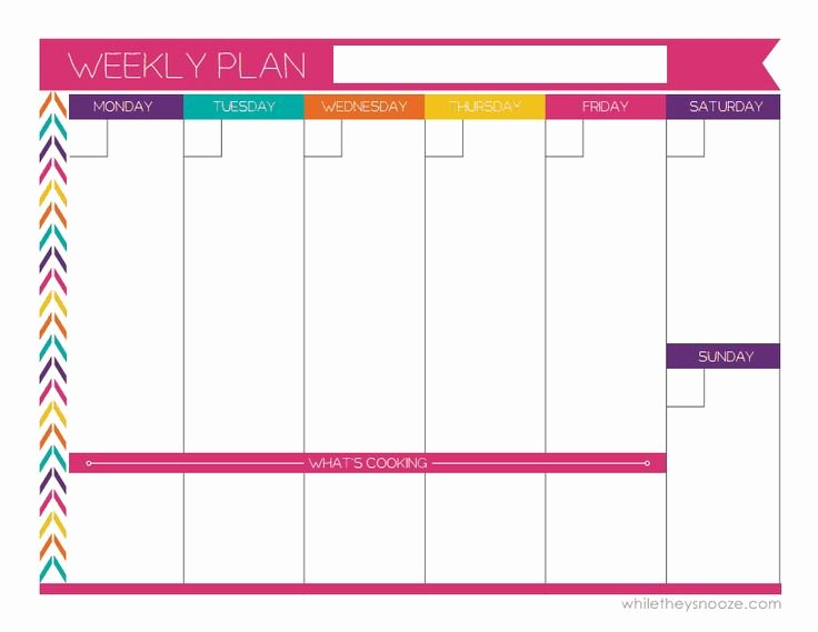 7 Day Week Schedule Template Luxury the 25 Best Weekly Calendar Template Ideas On Pinterest