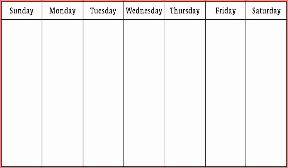 7 Day Week Schedule Template New 10 Gtd Excel Template Exceltemplates Exceltemplates