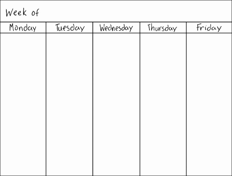 7 Day Week Schedule Template Unique Blank Seven Day Calendar Free Calendar Template