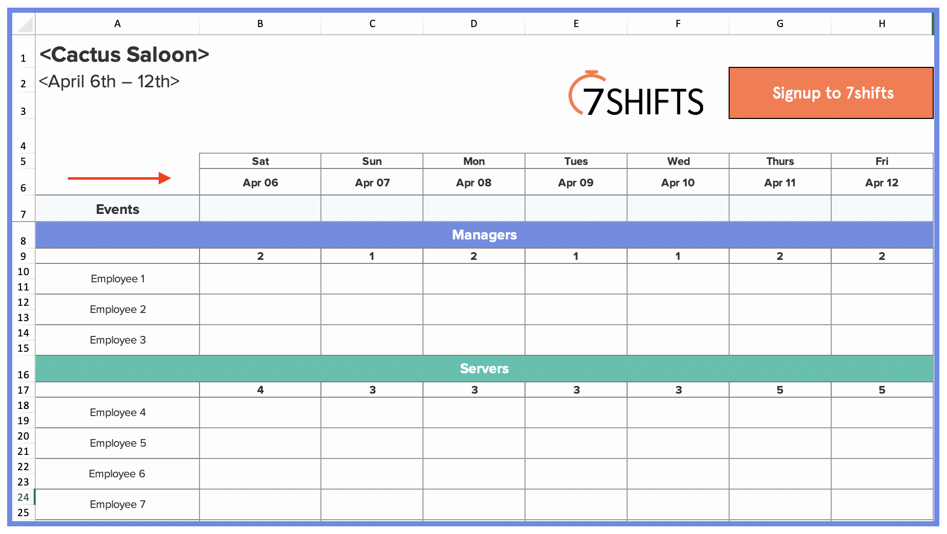 7 Day Work Schedule Template Best Of How to Make A Restaurant Work Schedule with Free Excel