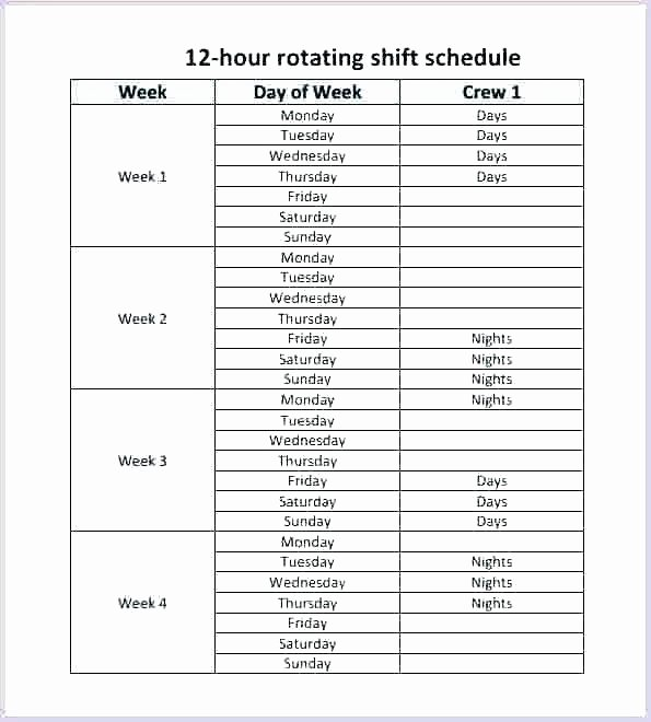 8 Hour Shift Schedule Template Awesome 3 Shift Schedule Template