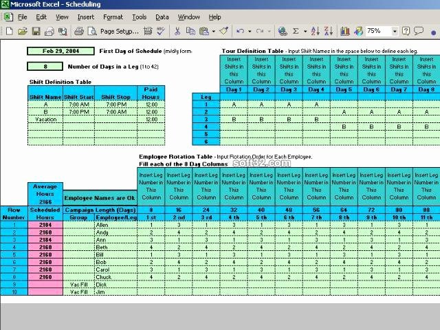 8 Hour Shift Schedule Template Awesome Download Rotating Shift Schedules for Your People 5 24