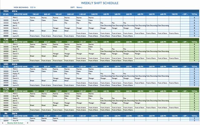 8 Hour Shift Schedule Template Lovely 8 Hour Shift Schedule Template