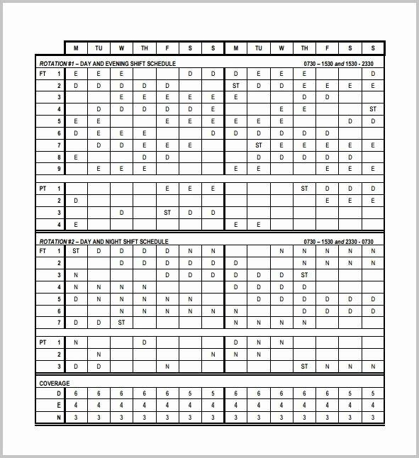 8 Hour Shift Schedule Template Unique 3 Shift Work Schedule Template Template Resume