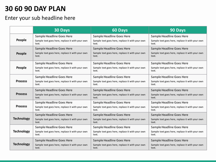 90 Day Marketing Plan Template Beautiful 30 60 90 Day Plan Powerpoint Template