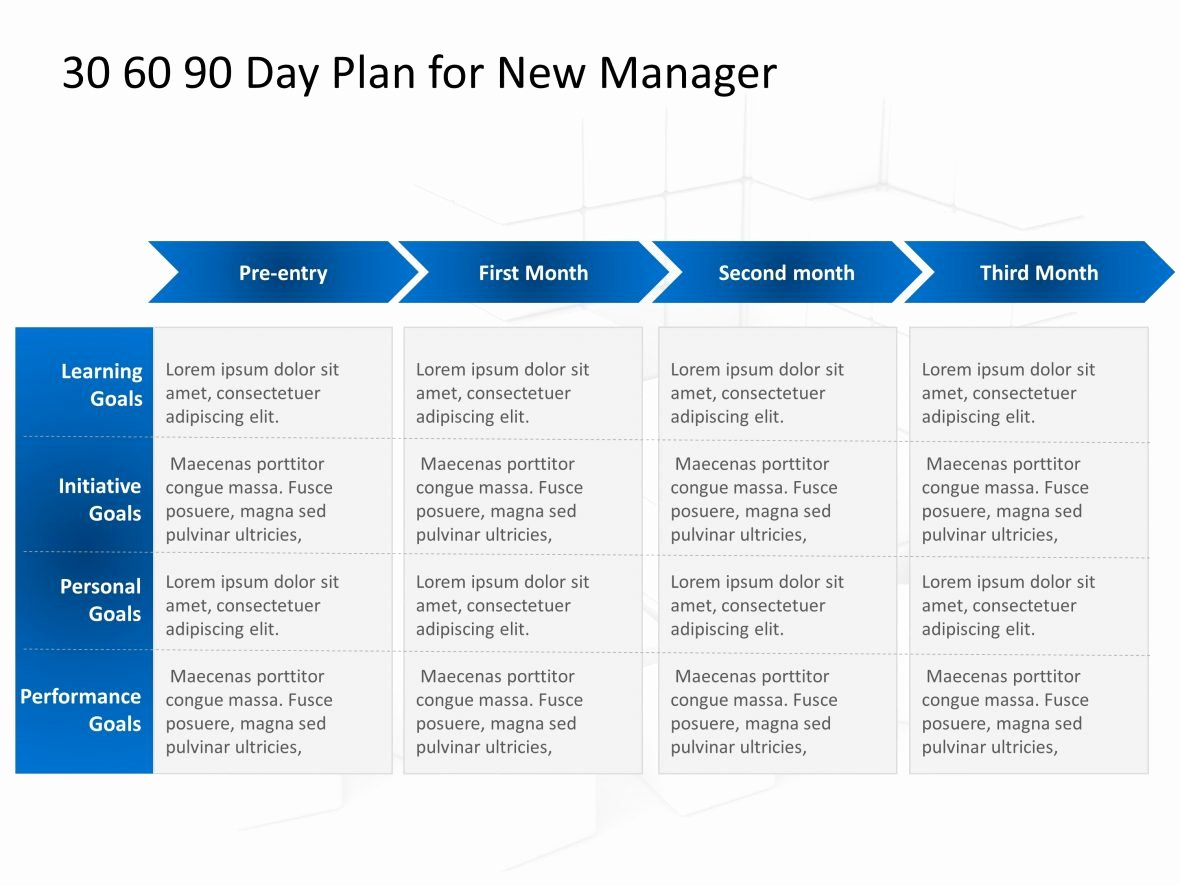 90 Day Marketing Plan Template Best Of 30 60 90 Day Plan for New Manager