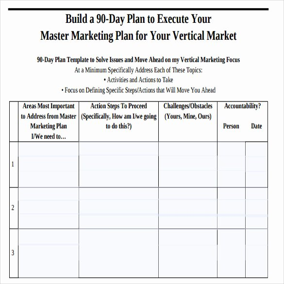 90 Day Marketing Plan Template Inspirational Sample 90 Day Plan 15 Documents In Pdf Word