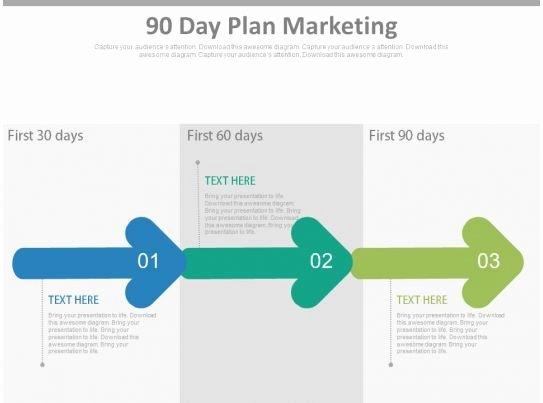 90 Day Marketing Plan Template Luxury 90 Day Plan Marketing Ppt Slides