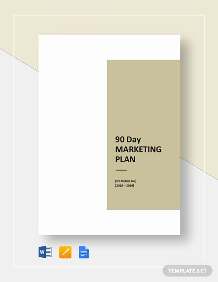 90 Day Marketing Plan Template New 7 Free 30 60 90 Day Plan Templates Word