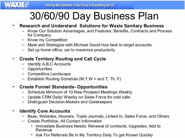 90 Day Marketing Plan Template Unique 30 60 90 Business Plan